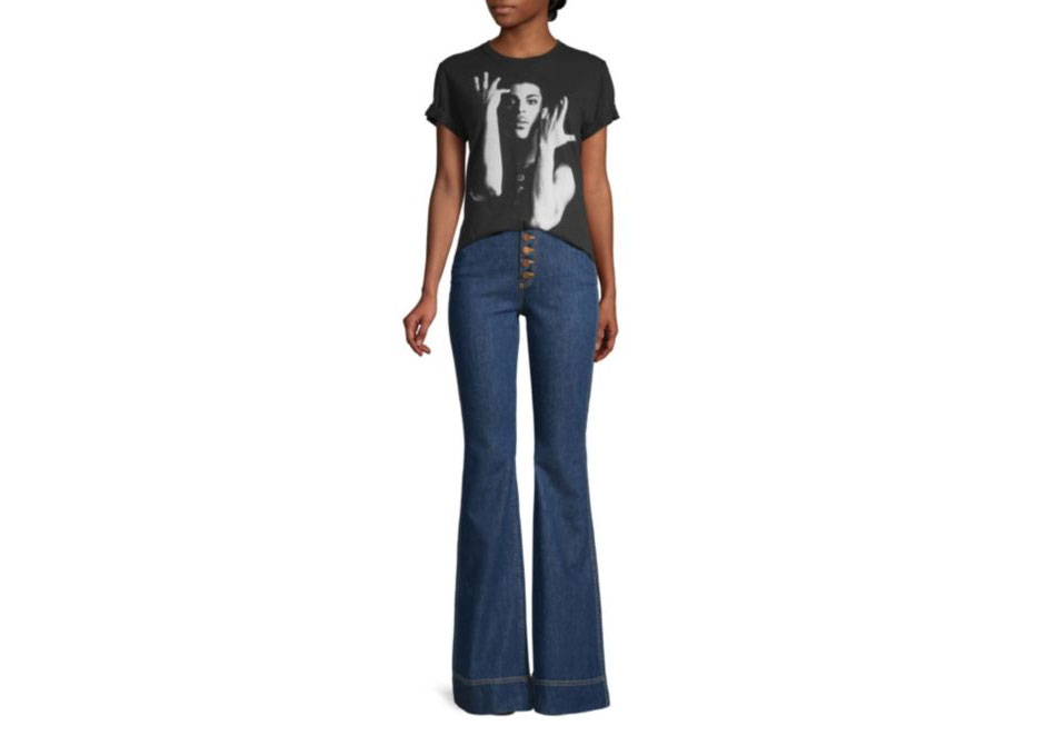 AO.LA by alice + olivia Beautiful High-Rise Bell Bottom Jeans