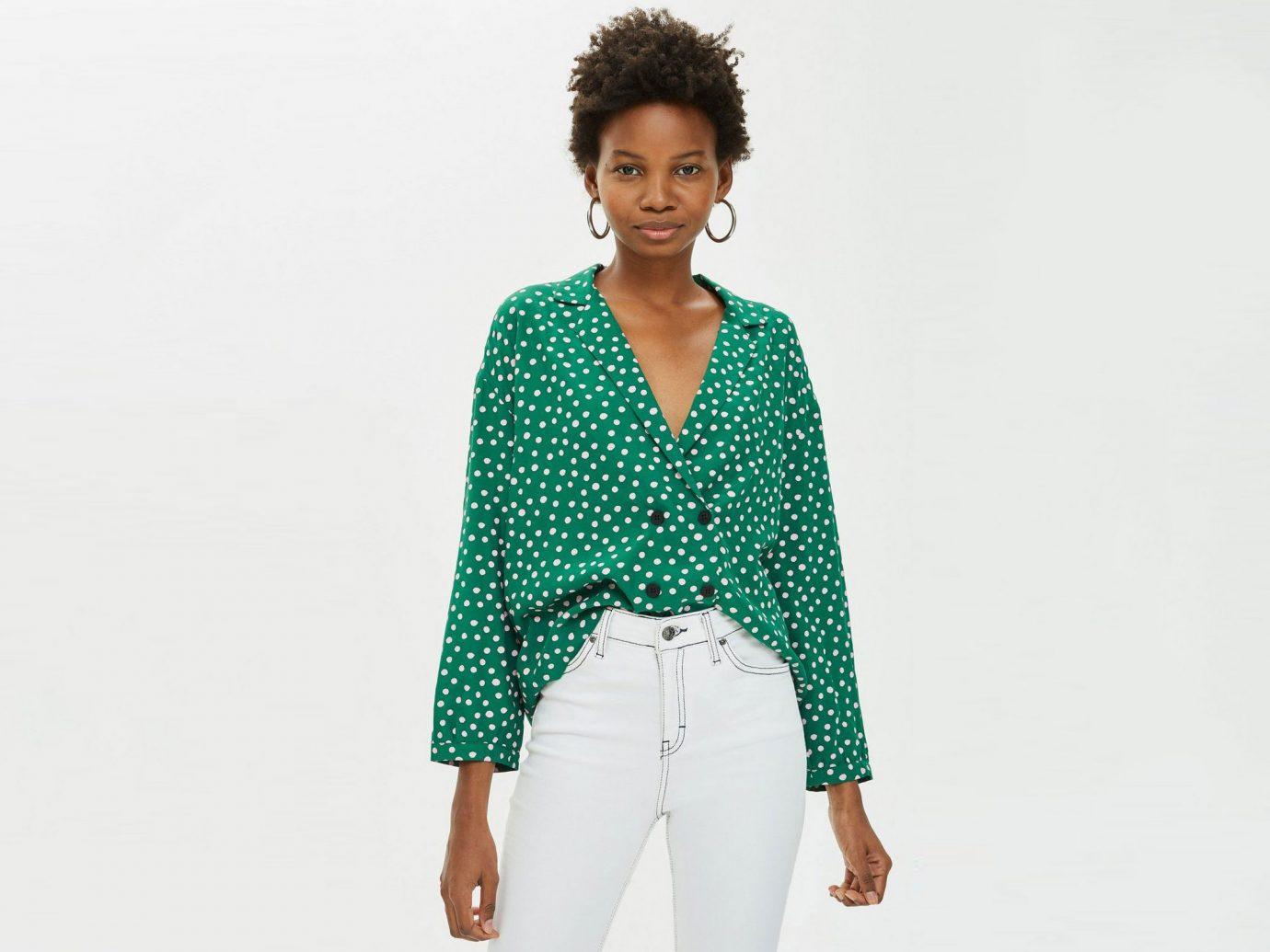 Spot Button PJ Style Shirt
