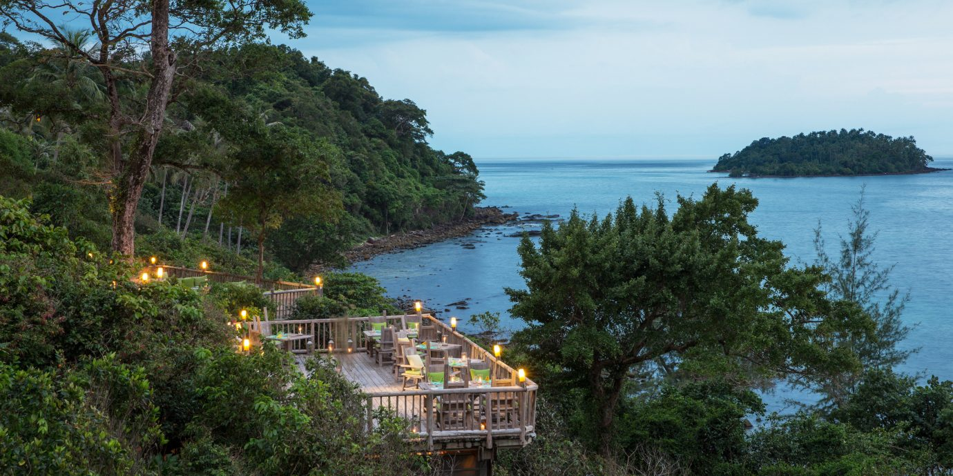 Treehouse dining at Soneva Kiri Resort, Thailand