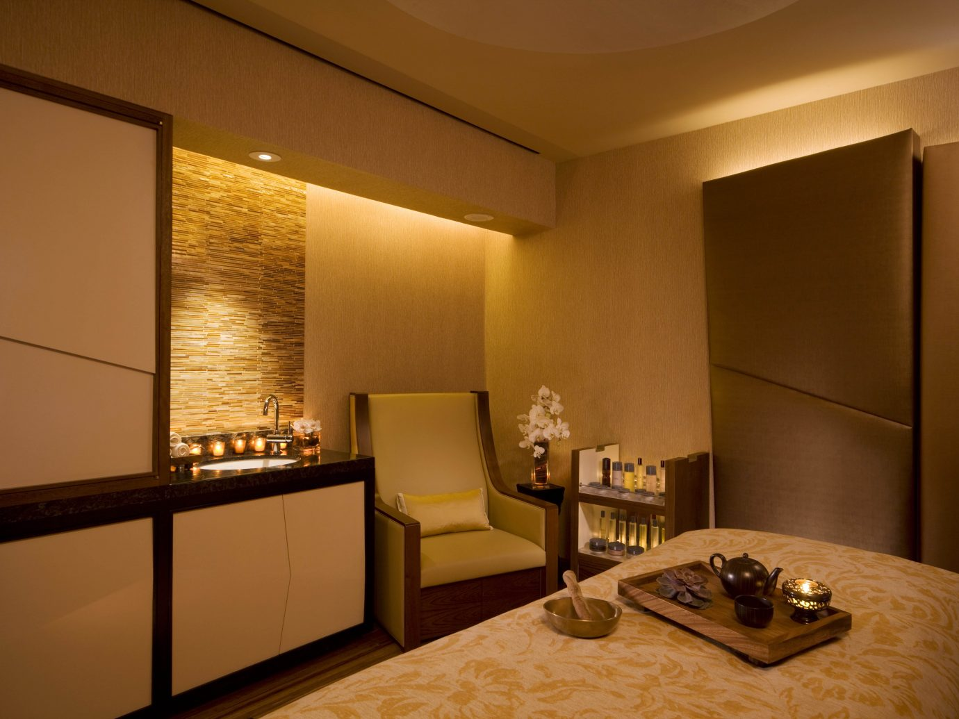 Treatment room at the Peninsula Spa