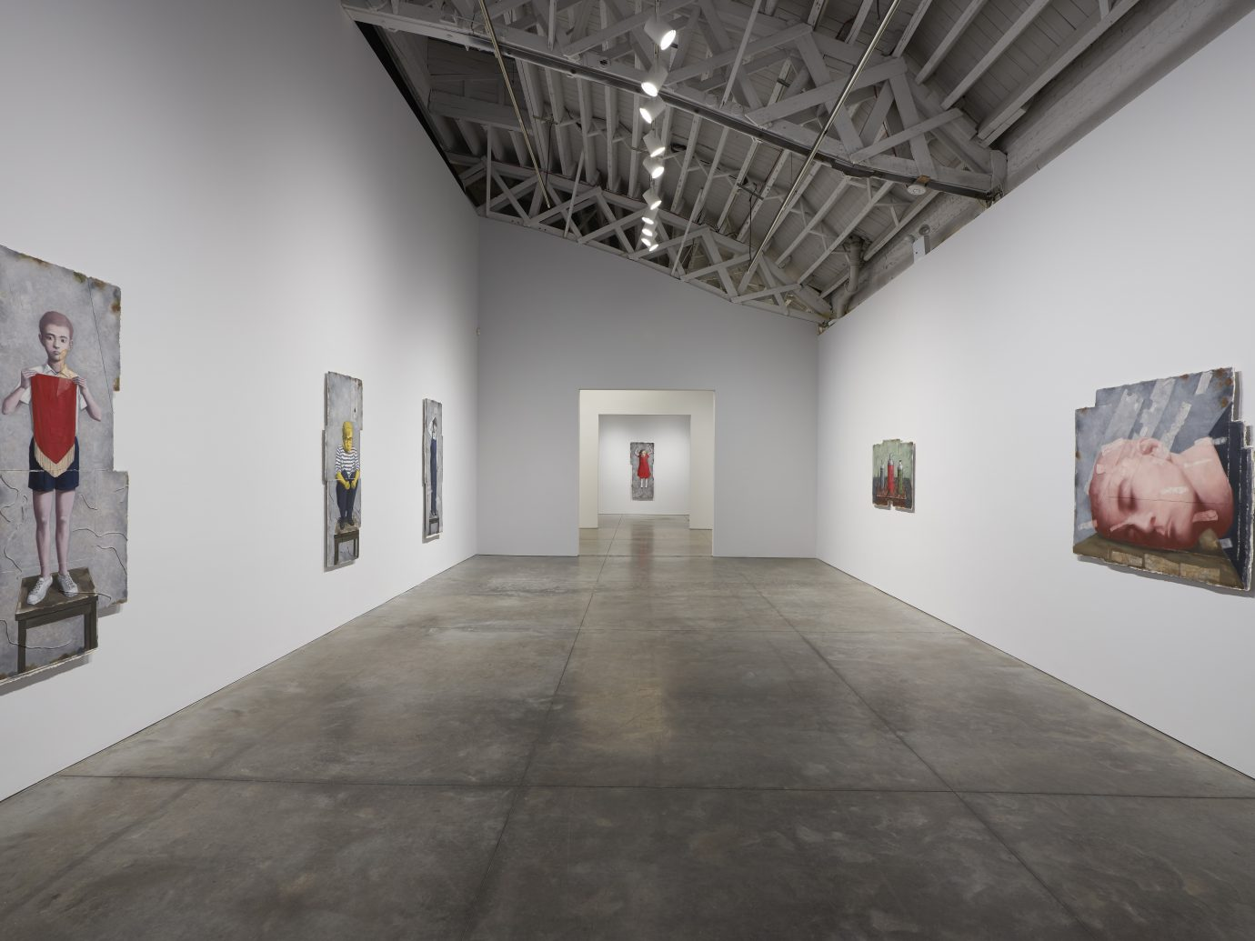 Installation view of Zhang Xiaogang: Recent Works which was up at Pace Gallery from September 7th - October 20th, 2018