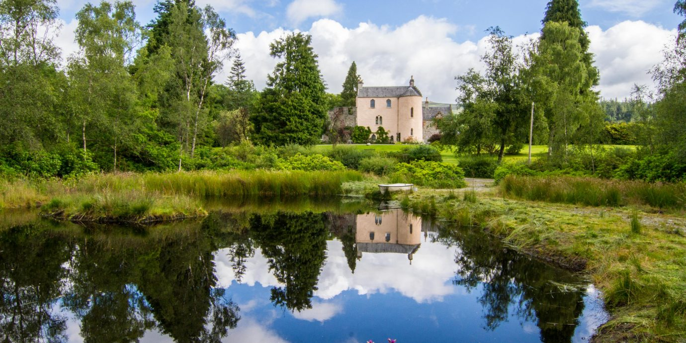 View of Duchray Castle in Scotland