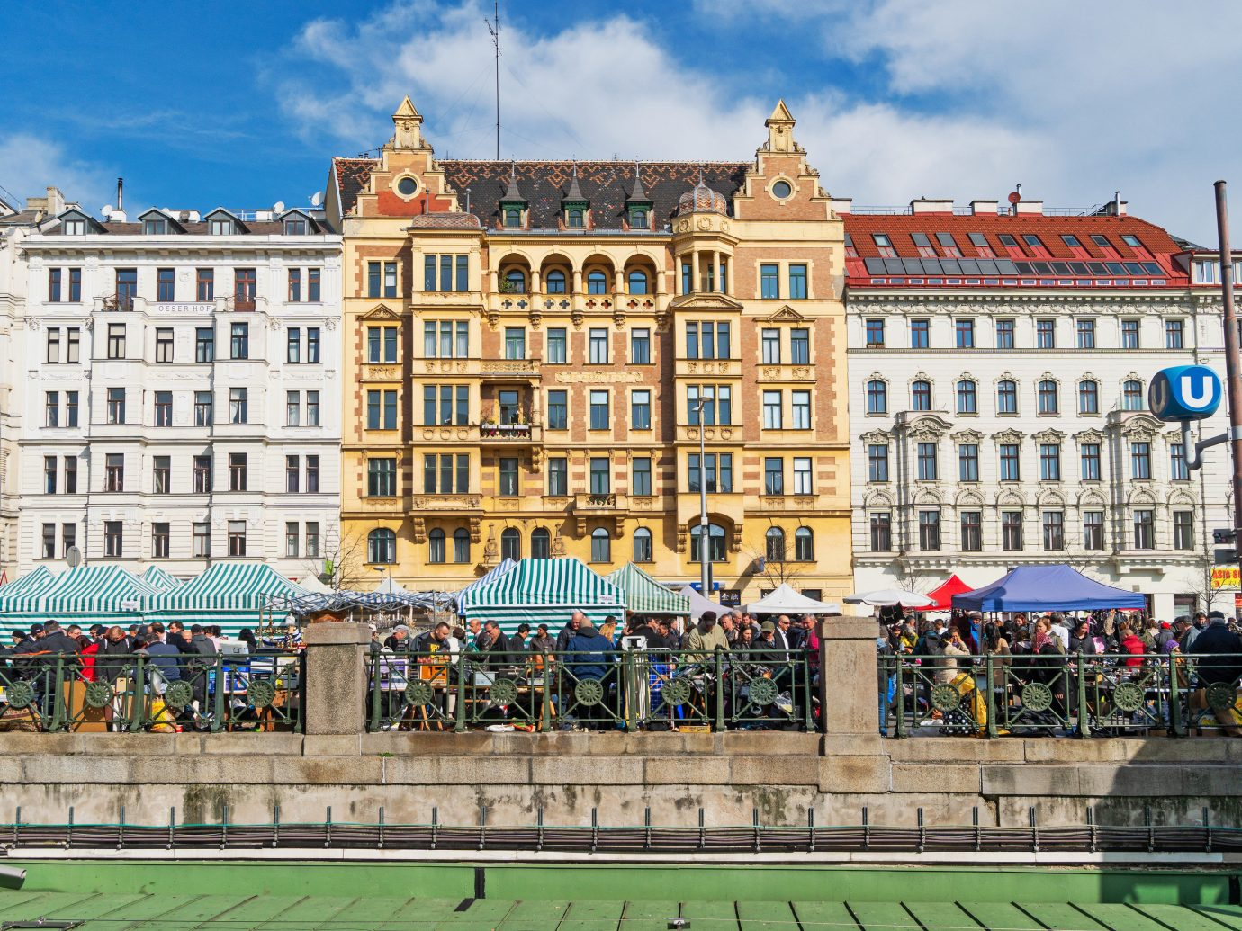 view of Naschmarkt in Vienna