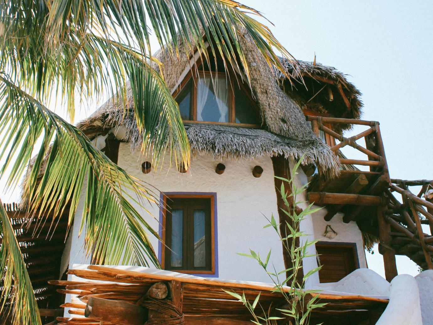 Exterior of villa in Isla Holbox at Casa Las Tortugas