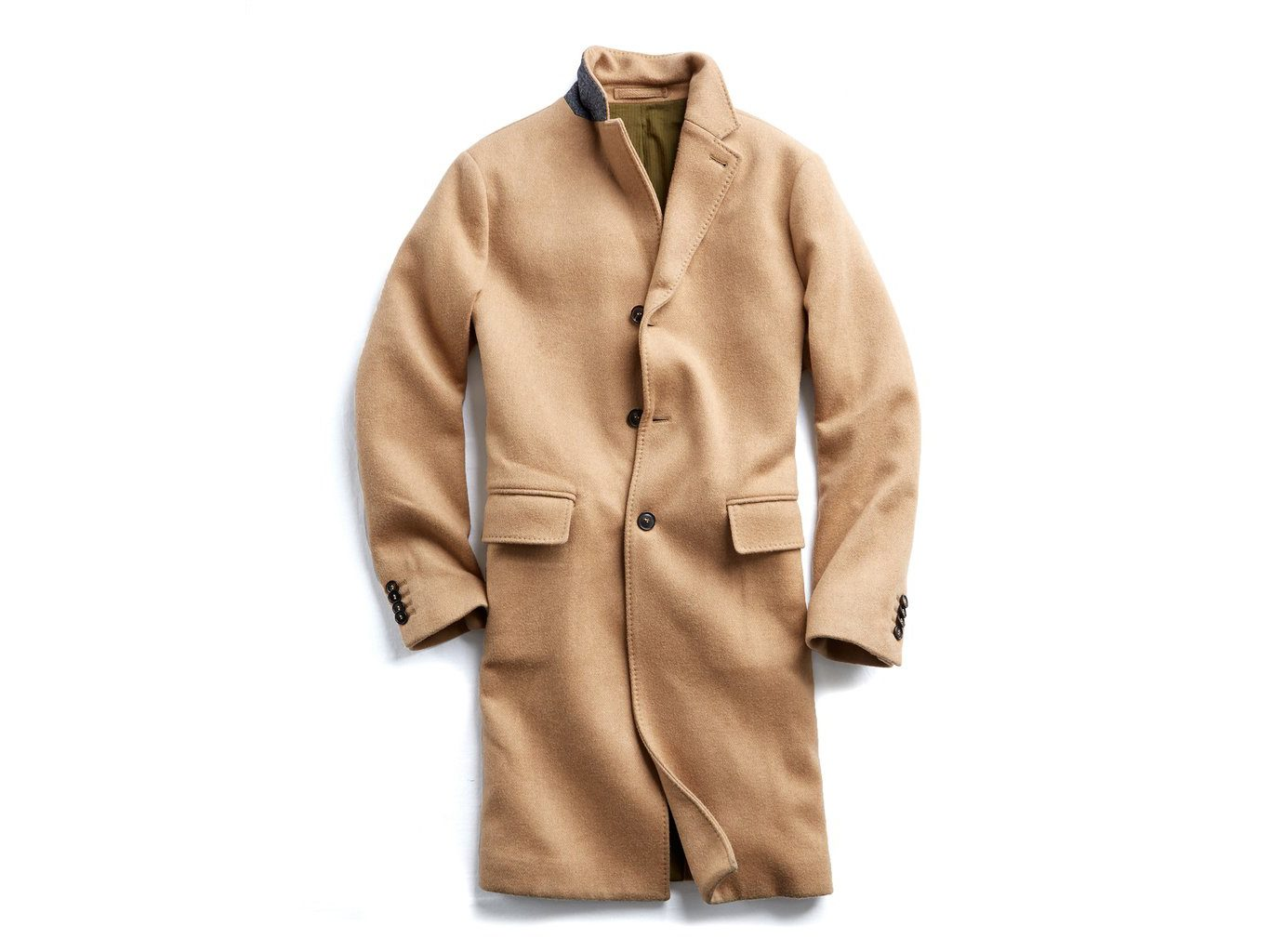 Italian Wool Cashmere Camel Topcoat