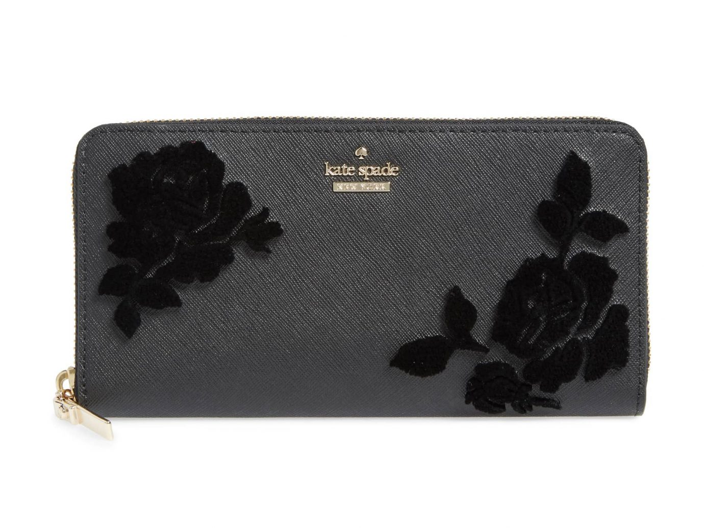 Cameron Street flock roses lacy wallet Kate spade