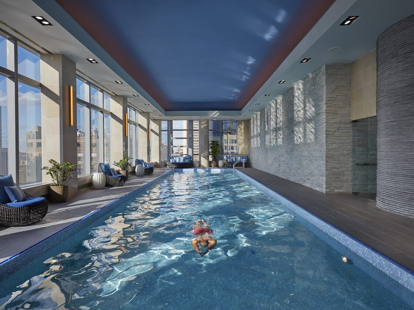 Wellness pool overlooking NYC at Mandarin Oriental