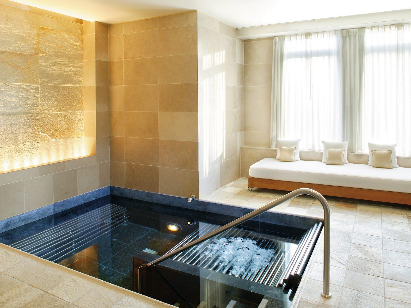 Luxury spa vitality pool at Mandarin Hotel NYC