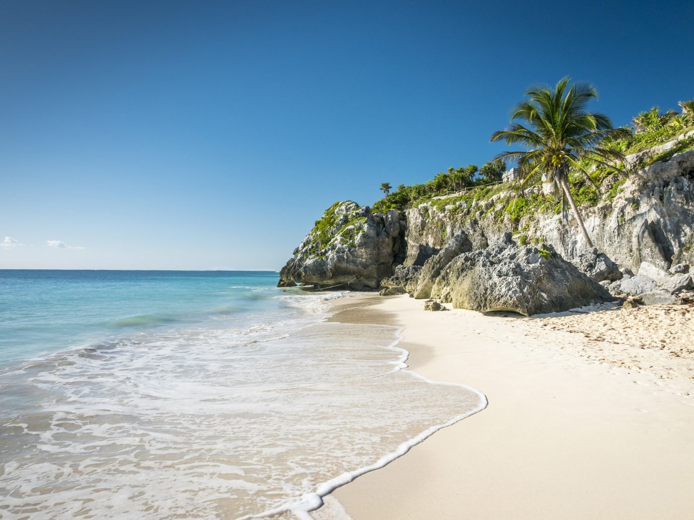 sandy beach in Tulum