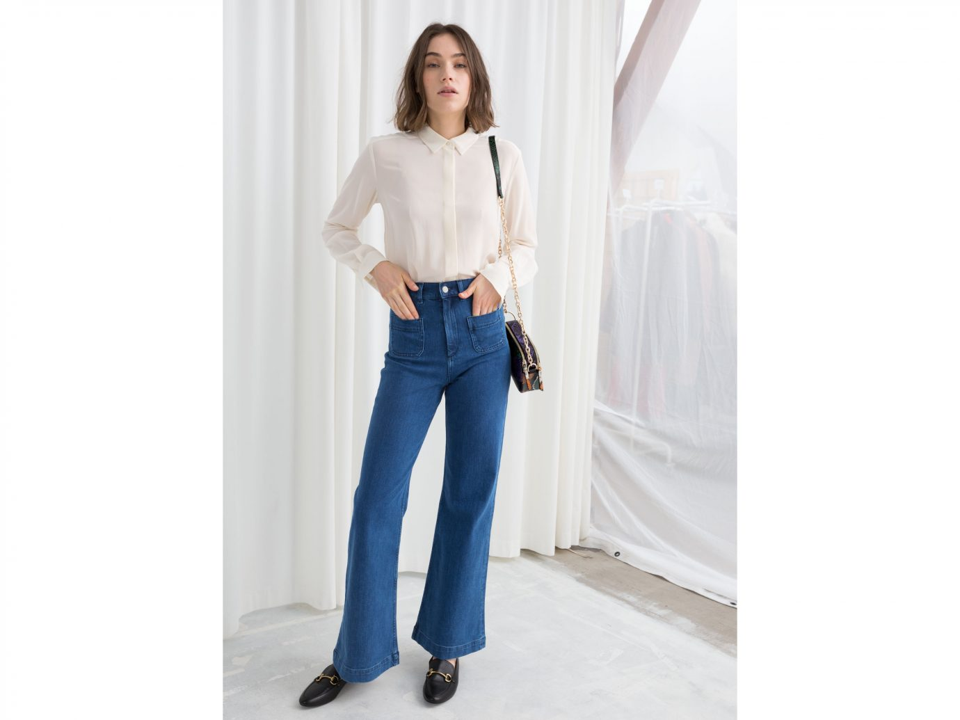& Other Stories Flared Mid Rise Jeans