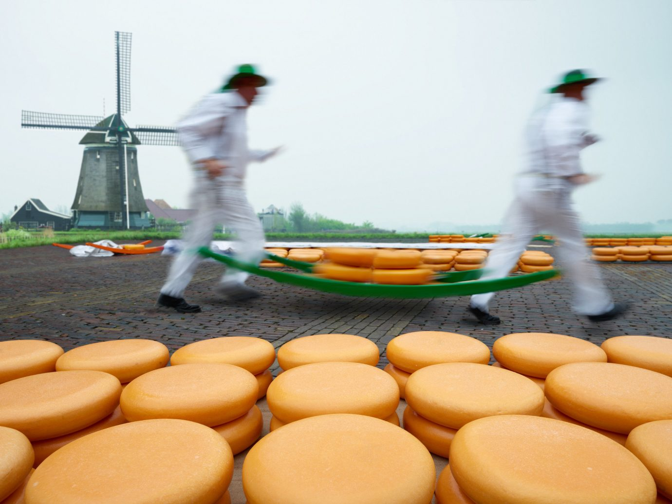 Gouda cheese being made in Gouda Netherlands