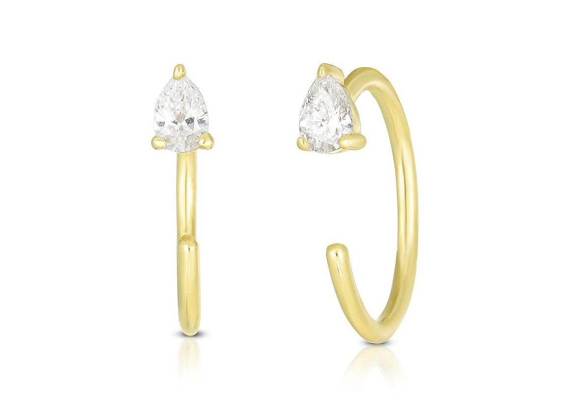 Ring Concierge Pear Droplet Hoops