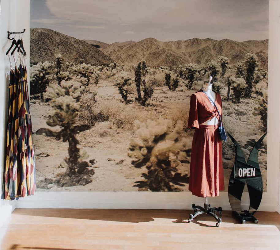 desert landscape photo and a dress at Sloane