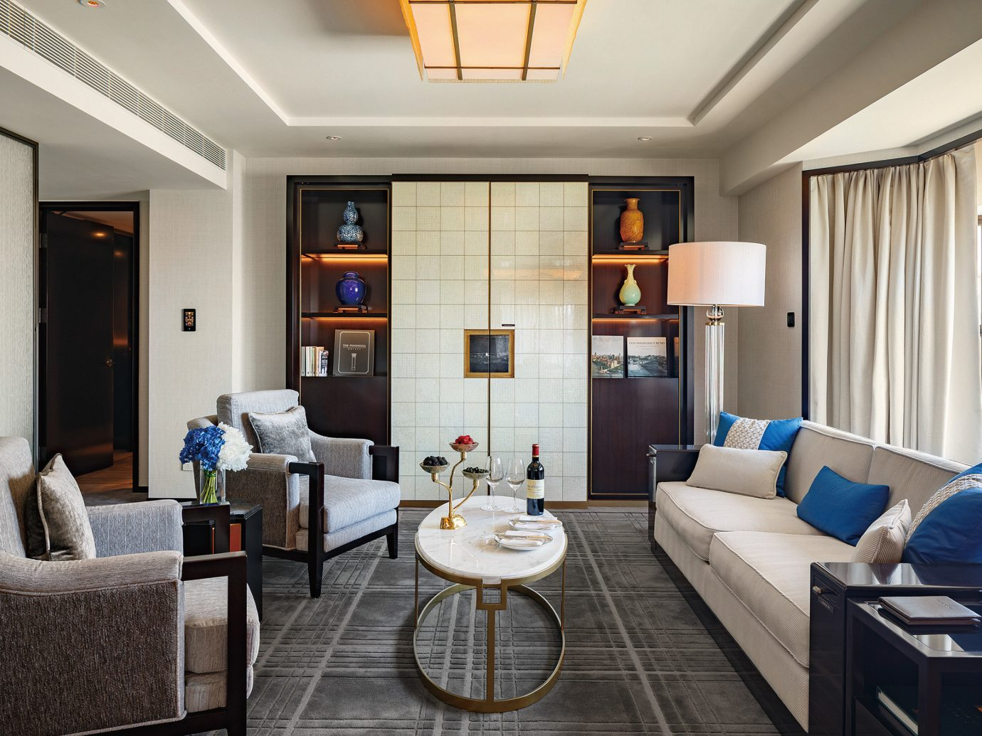 Living room at Peninsula Beijing