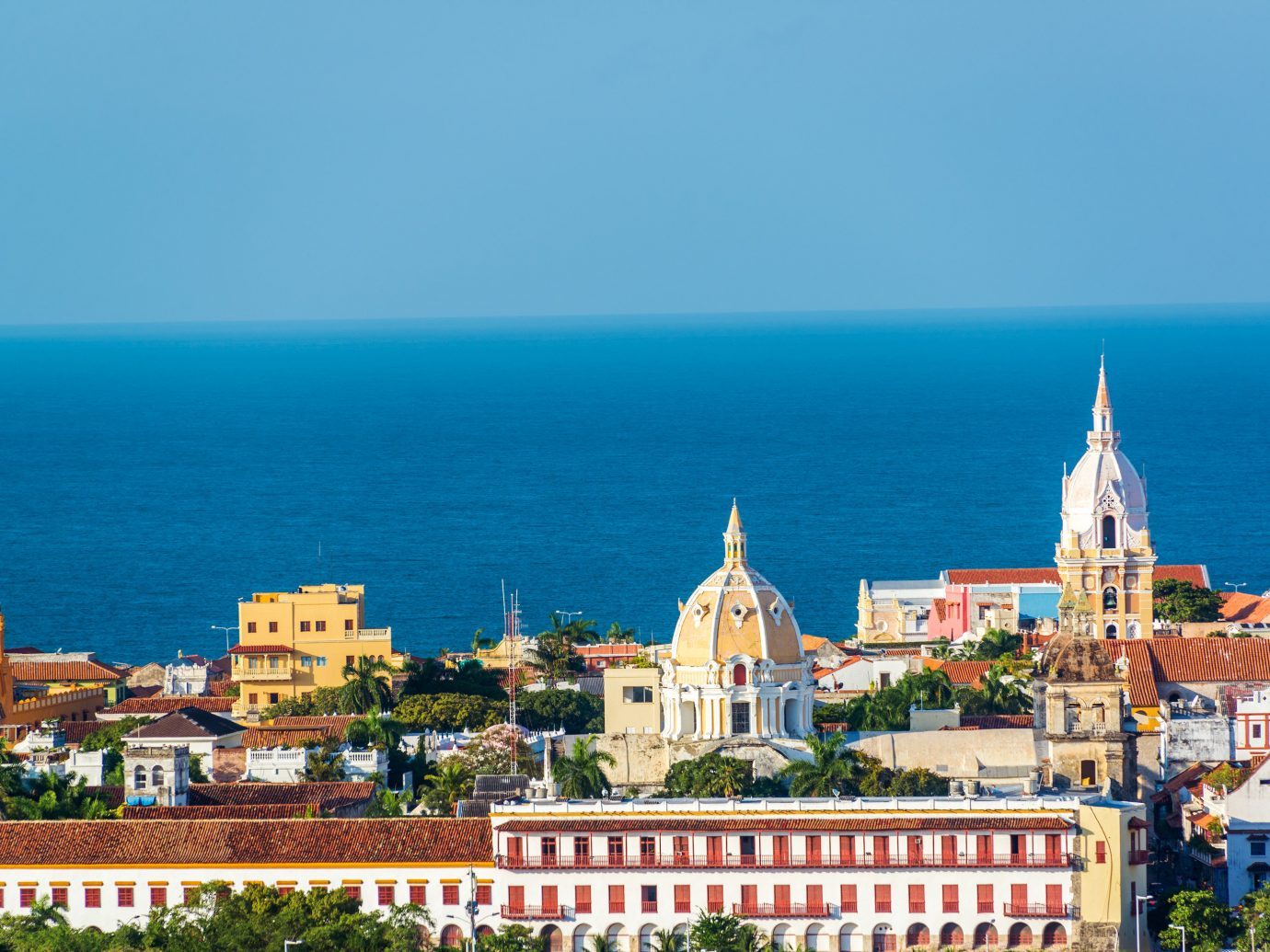 View of Cartagena and water