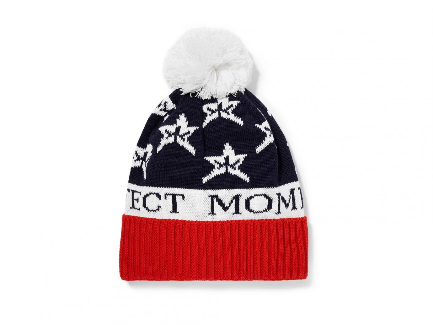 Perfect Moment Star pompom-embellished intarsia wool-blend beanie