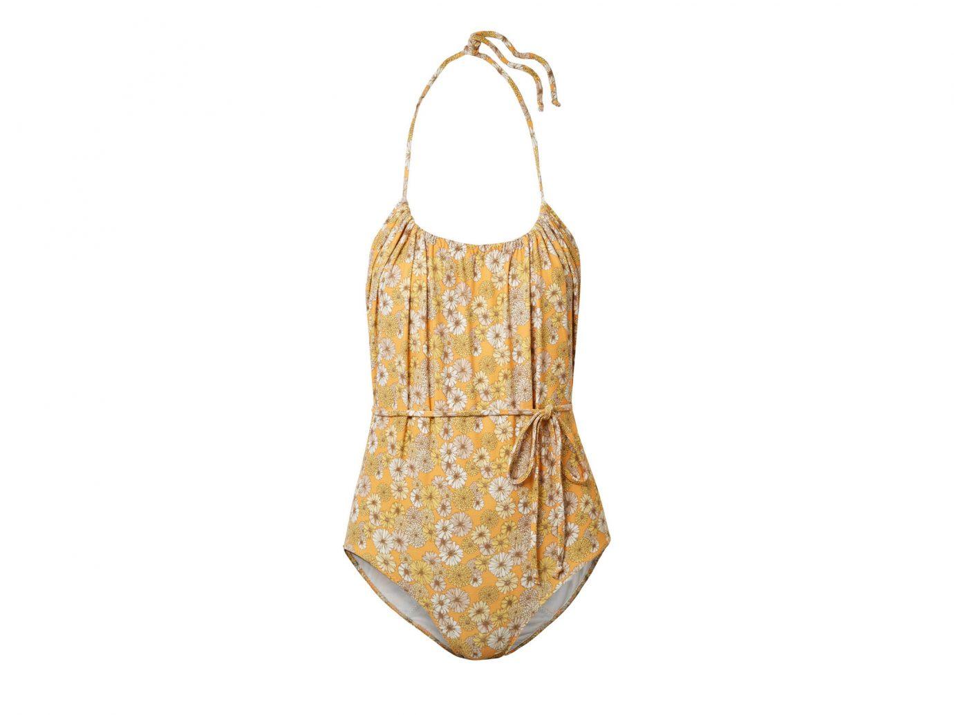 Lisa Marie Fernandez Charlotte Belted Floral-print Stretch-crepe Halterneck Swimsuit