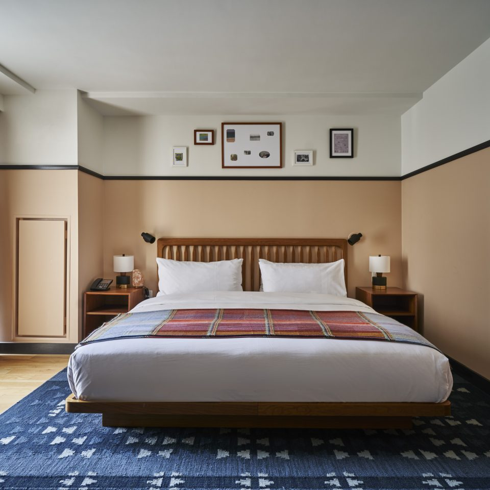Frontal of bed in suite
