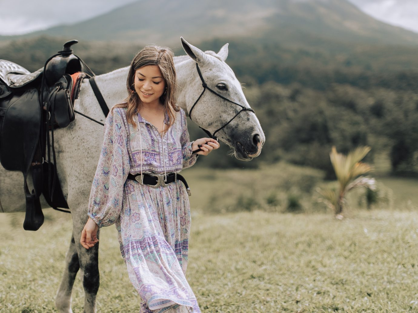 Girl with a horse in Costa Rica