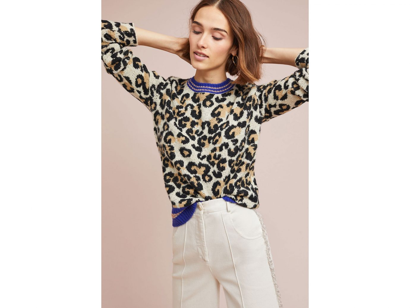 Anthropologie Sporty Leopard Sweater