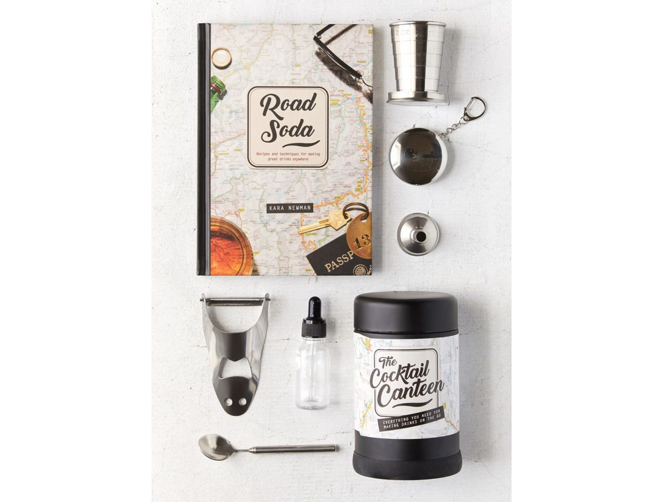 Road Soda Book + Cocktail Canteen Gift Set