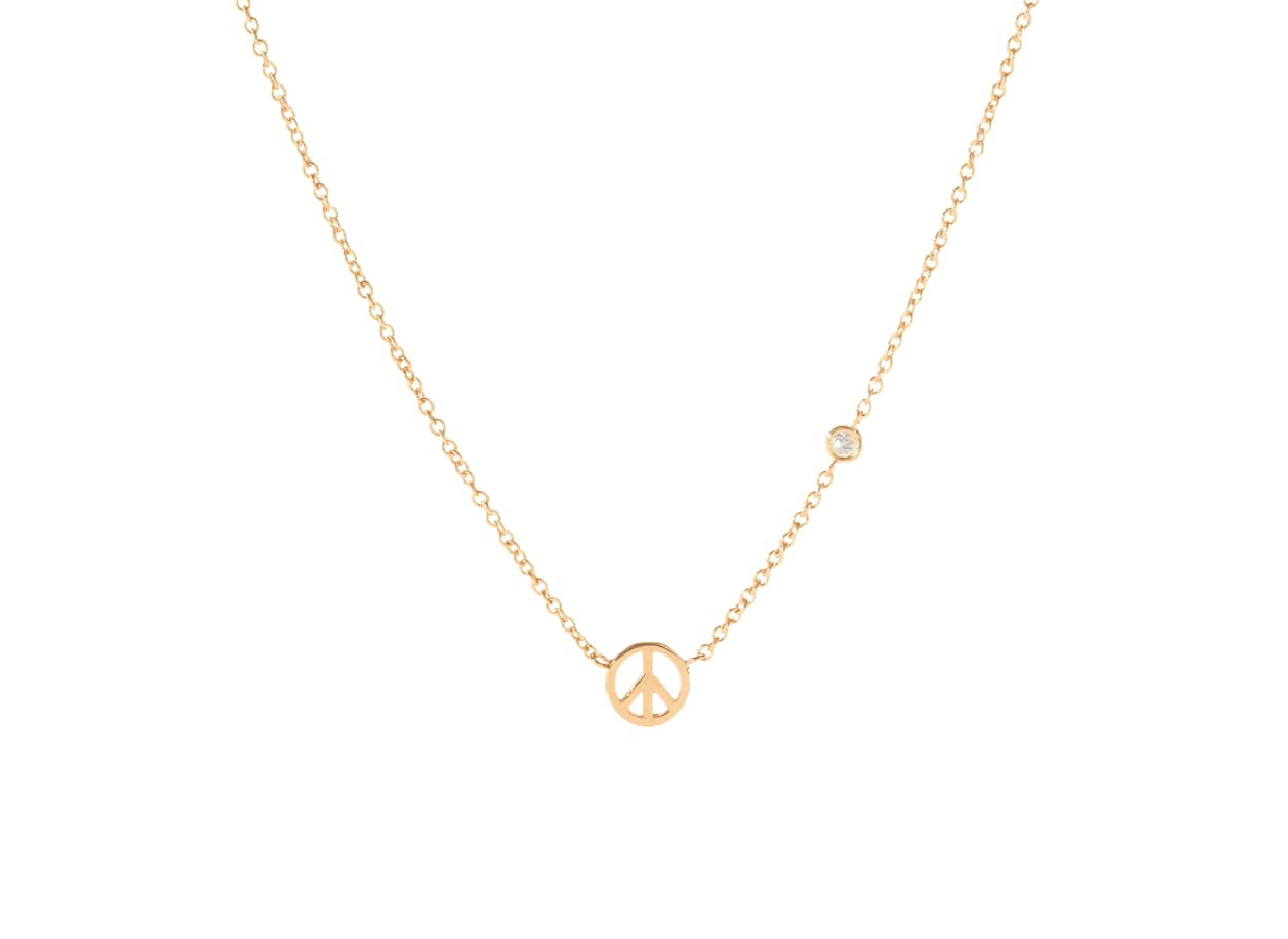 Peace Sign Necklace Syd By Sydney Evan