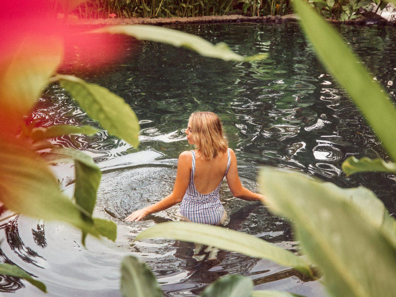 Woman swimming in Costa Rica