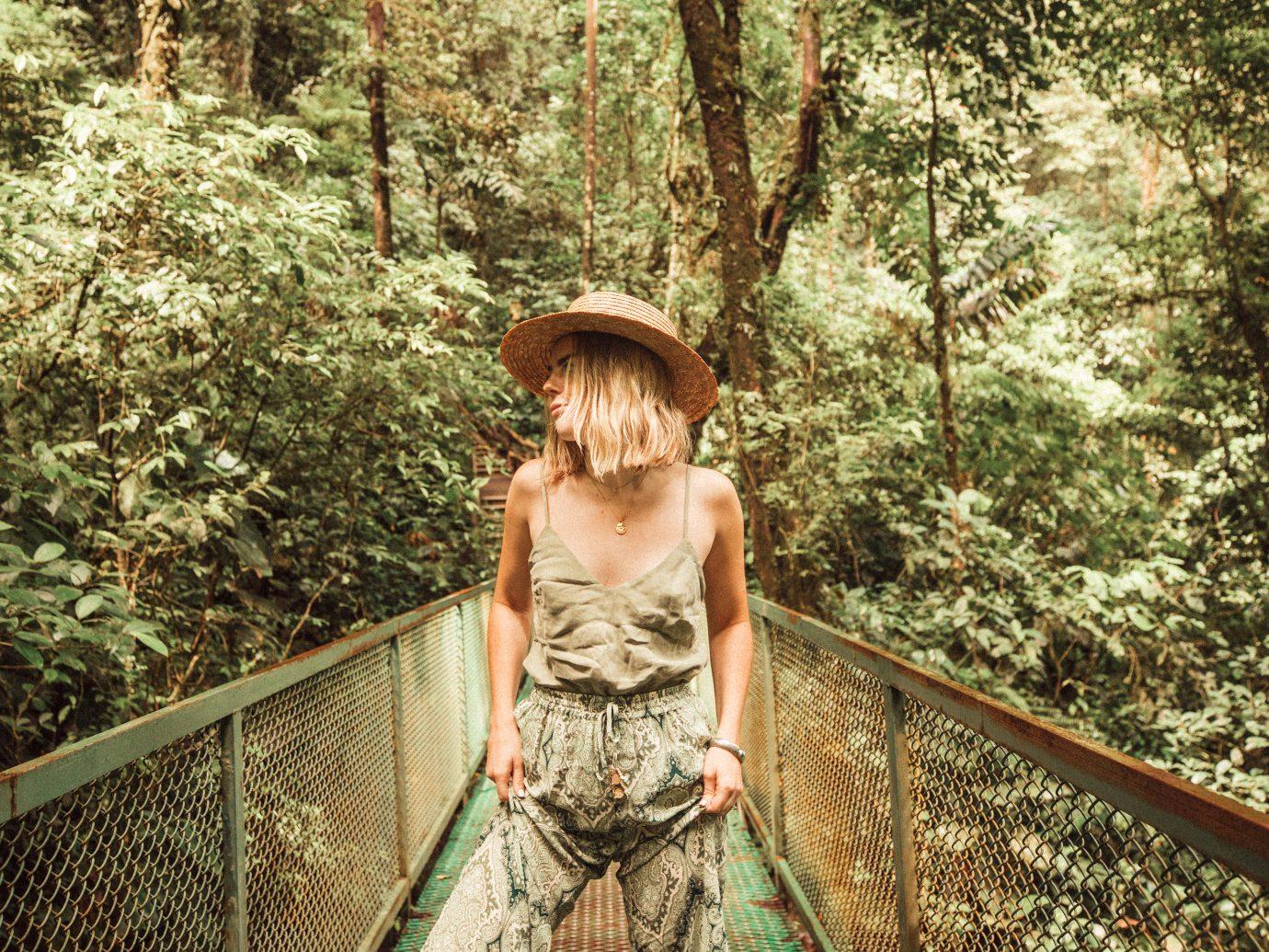 Woman on a bridge in Costa RIca