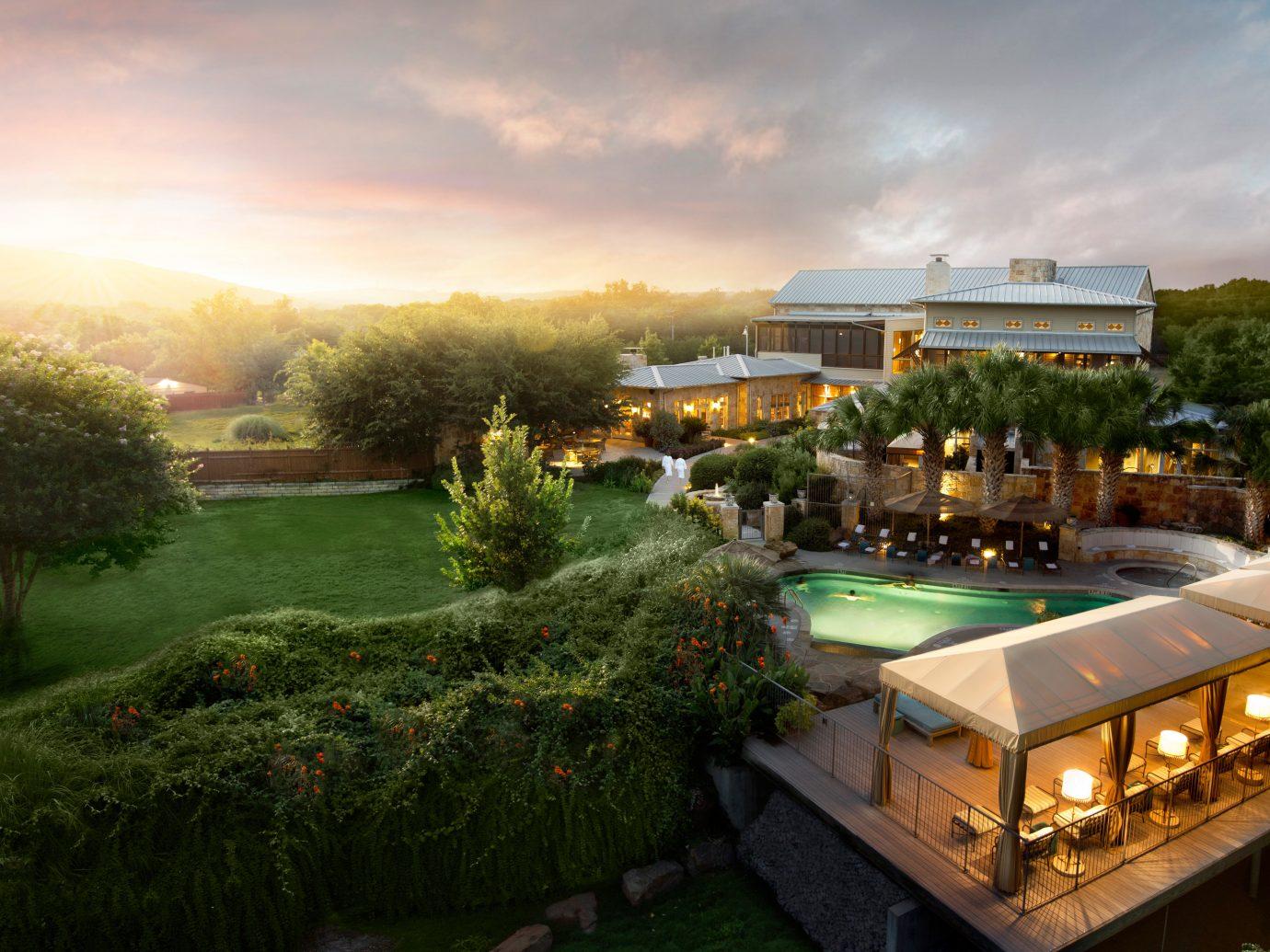 Aerial view of Lake Austin Spa Resort