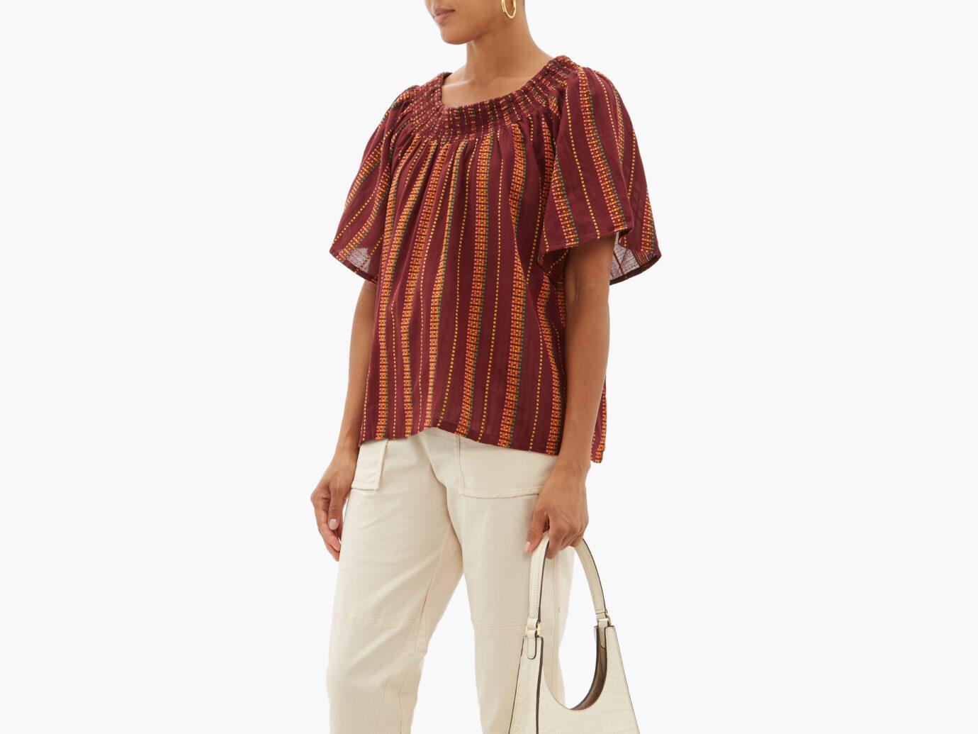 ACE & JIG Marisol bardot cotton-jacquard top