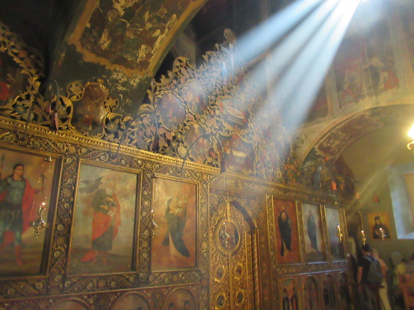 St. George's Church interior with light pouring in