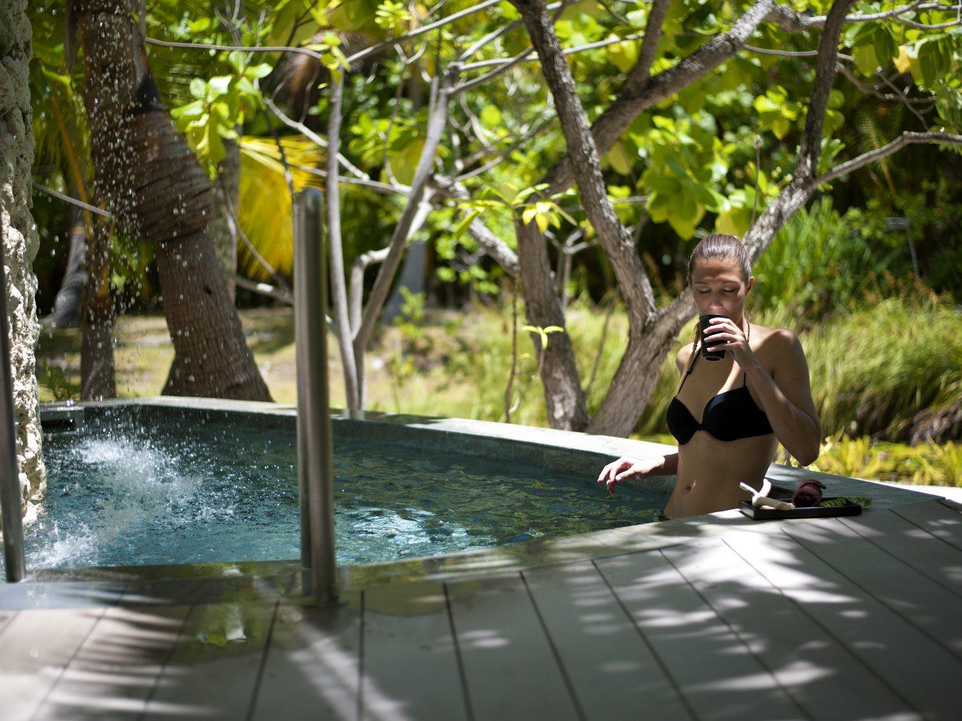dipping pool at The Brando, Tetiaroa, Tahiti