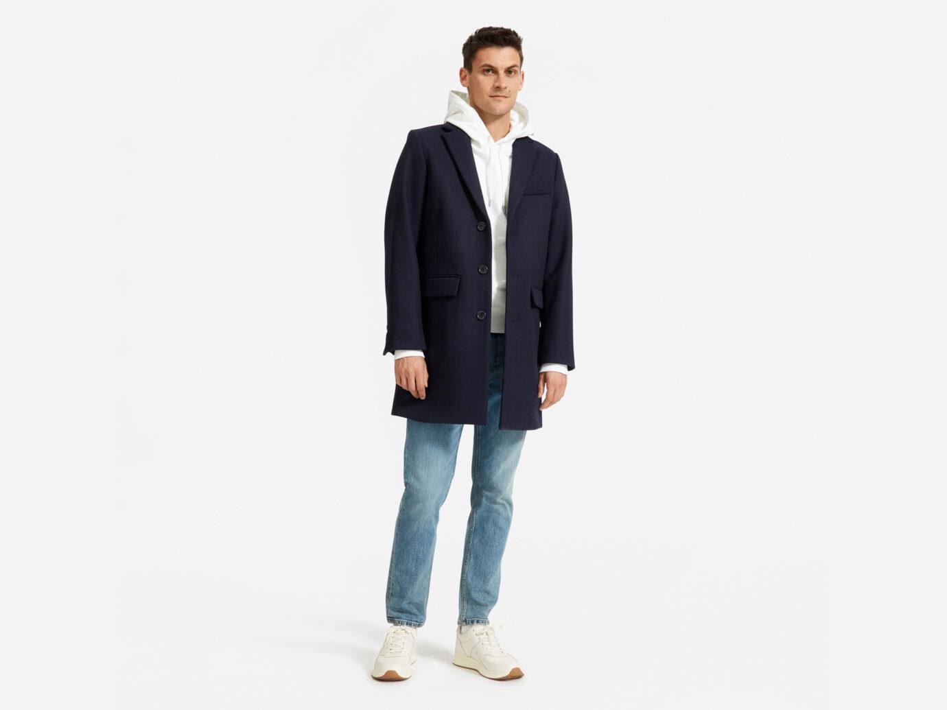 Everlane Men's ReWool Overcoat