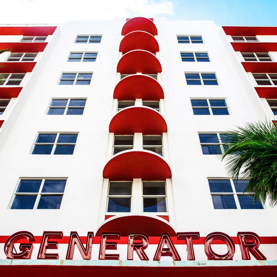 Exterior close up looking up at Generator Miami