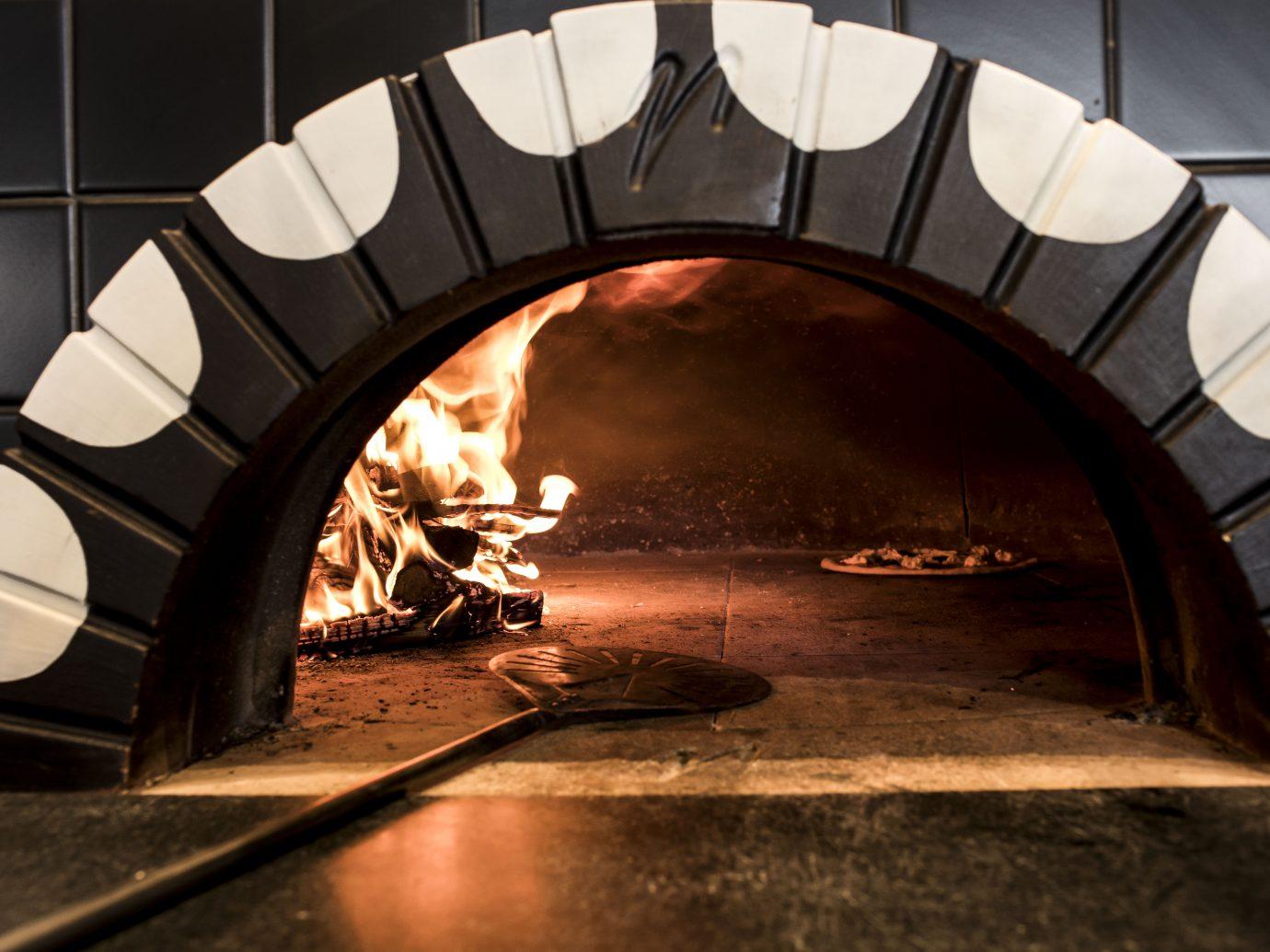 Coal fire oven ablaze