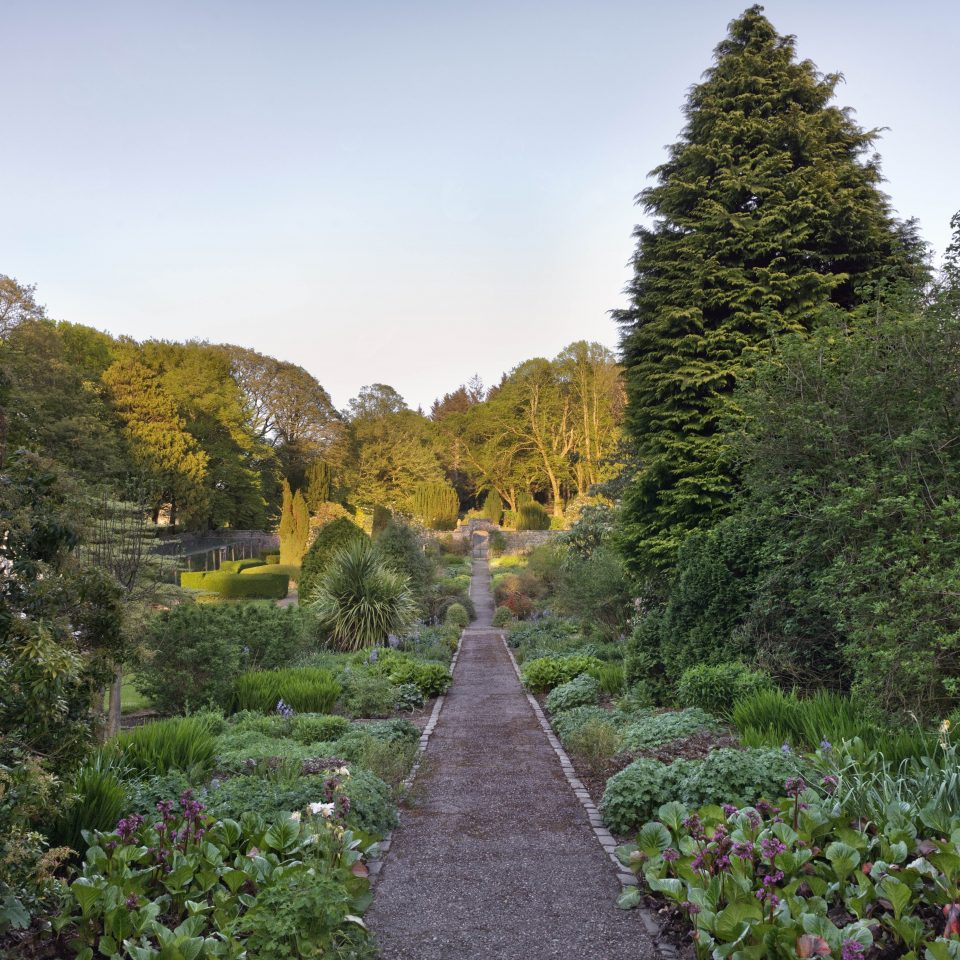 The Walled Garden with a long pathway