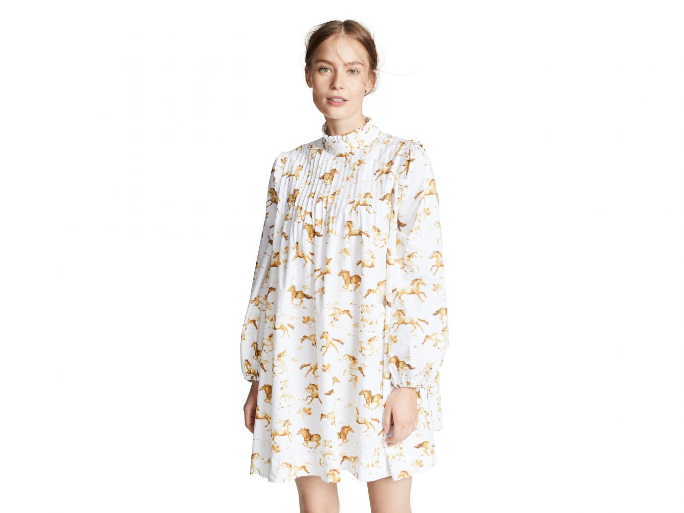 Ganni Printed Poplin Dress