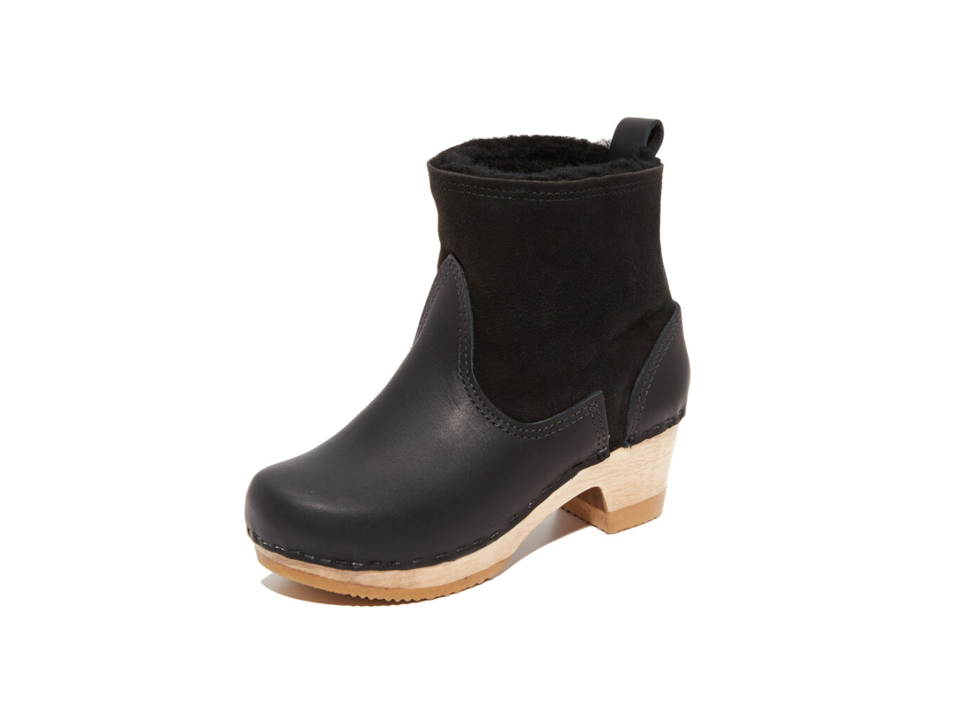 "NO.6 5"" Pull On Shearling Clog Winter Boot"