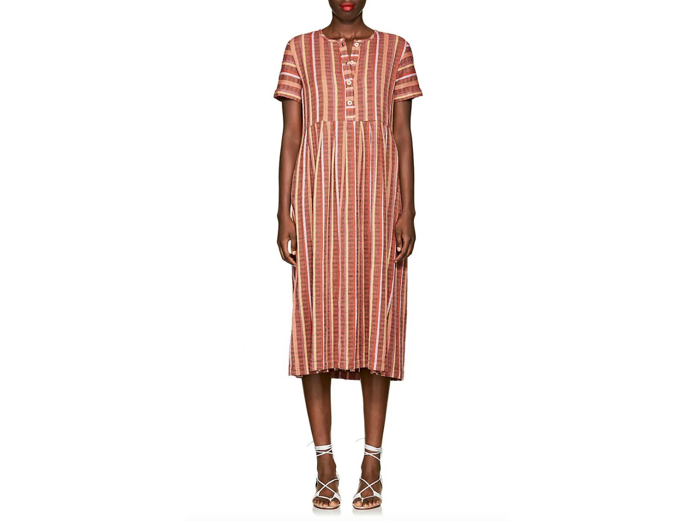 Ave & Jig Ashcroft Mixed-Stripe Cotton Dress