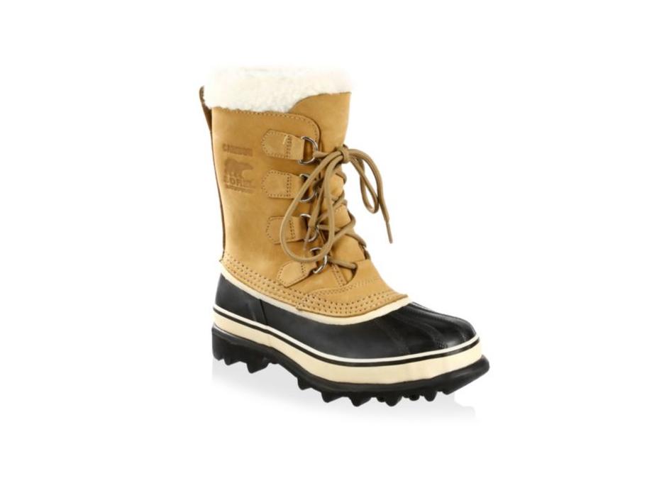 Sorel Caribou Leather & Faux Fur Lace-Up Boots