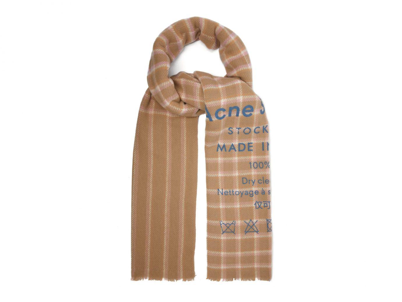 Acne Studios Cassiar Logo-Print Check Wool Scarf