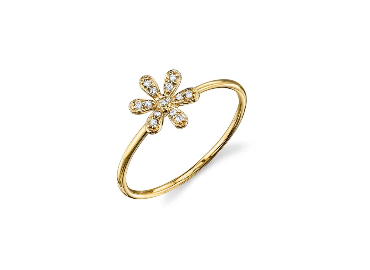 Sydney Evan 14k Diamond Flower Ring