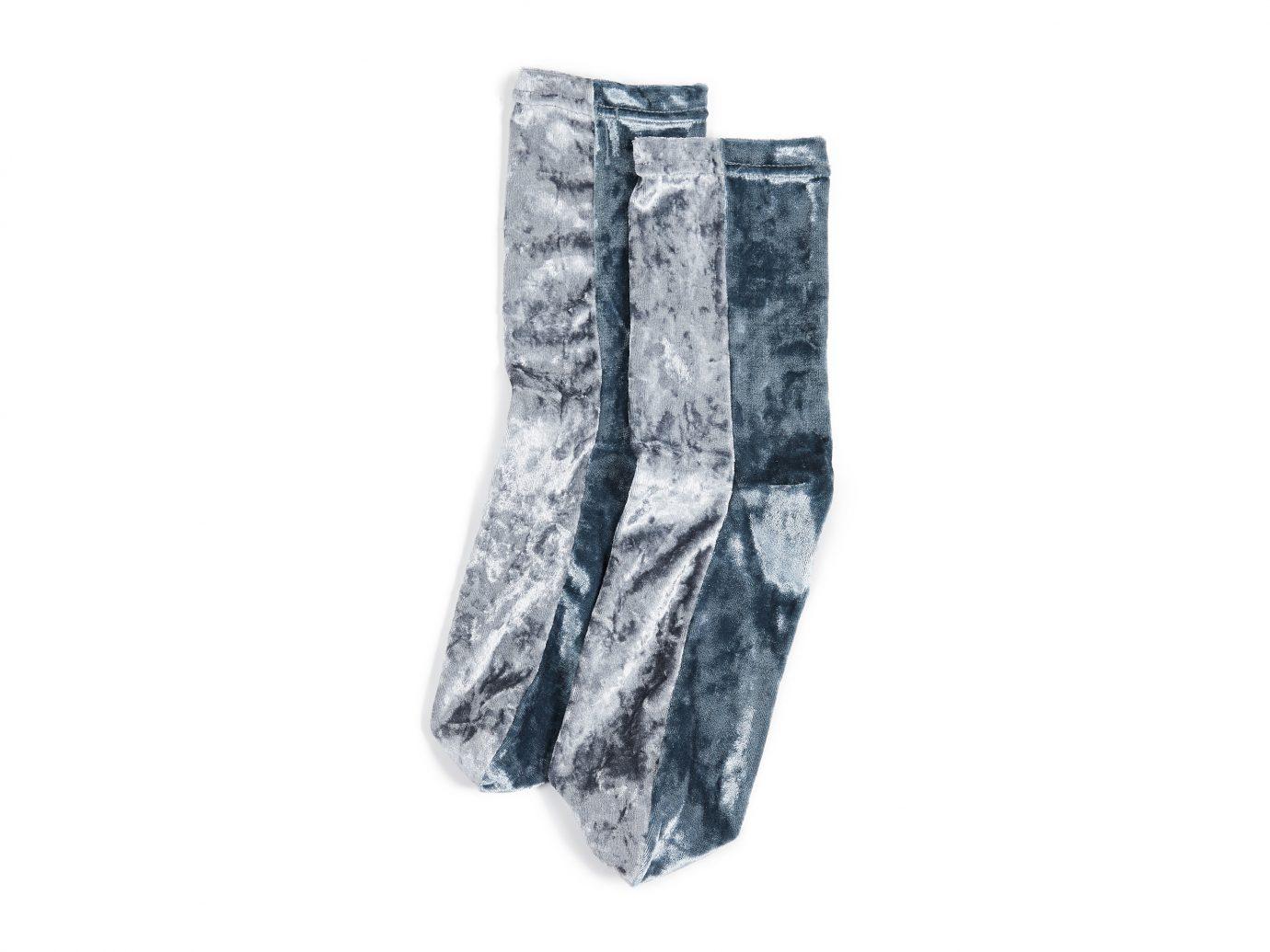 Free People Colorblock Velour Socks
