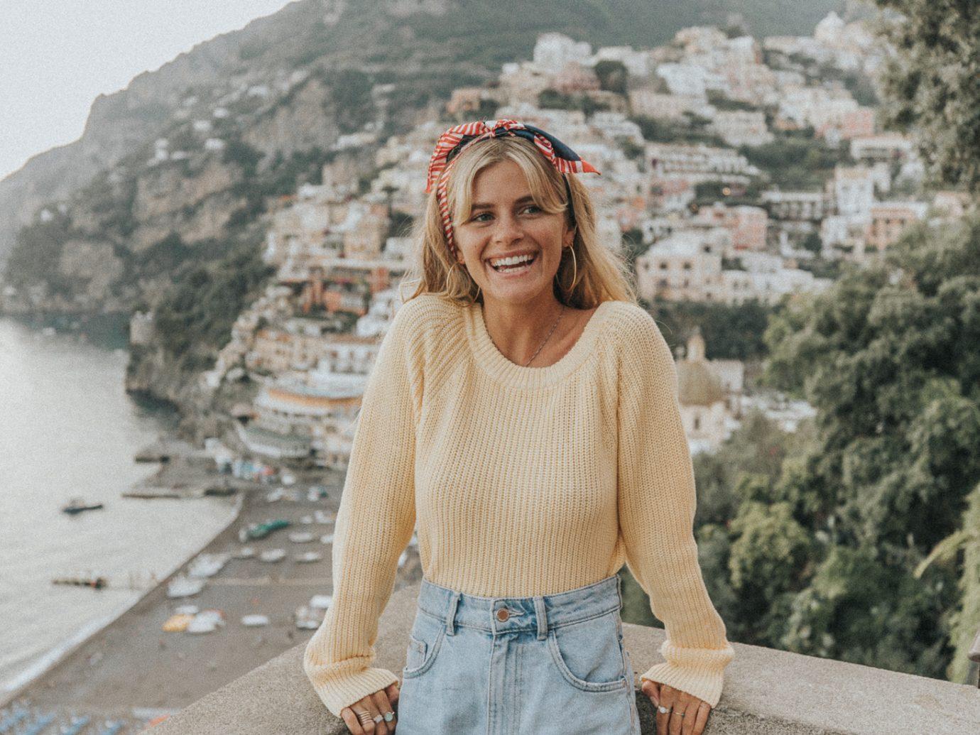 girl in Amalfi Italy