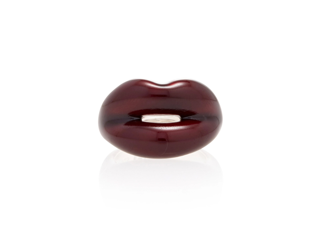 Hot Lips By Solange Black Cherry Sterling Silver Ring