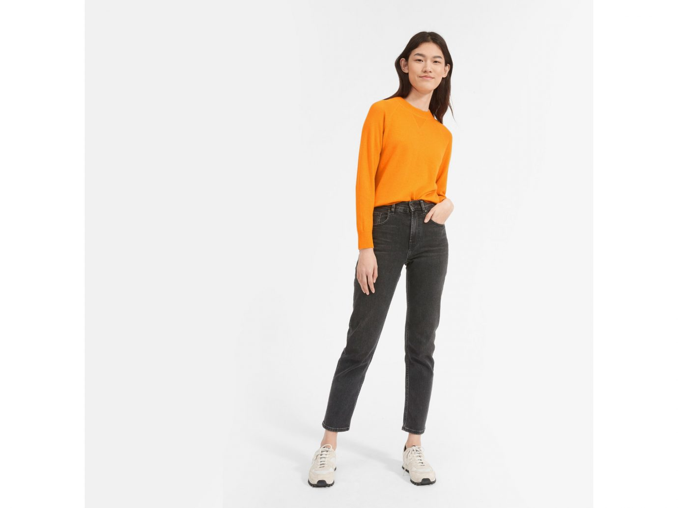 Everlane The Cashmere Shrunken Sweatshirt