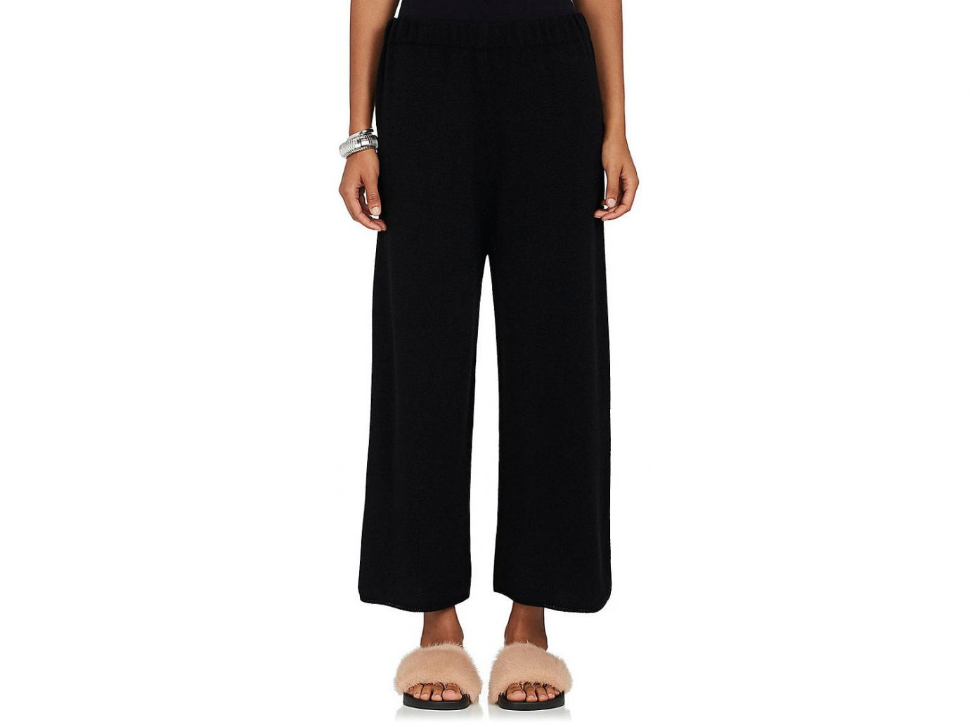 Barneys New York Stockinette-Stitched Cashmere Sweatpants
