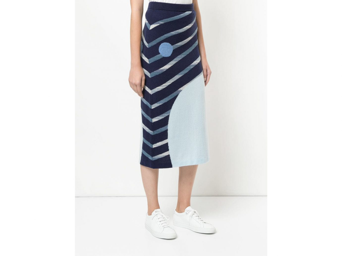 Onefifteen Striped Knitted Skirt