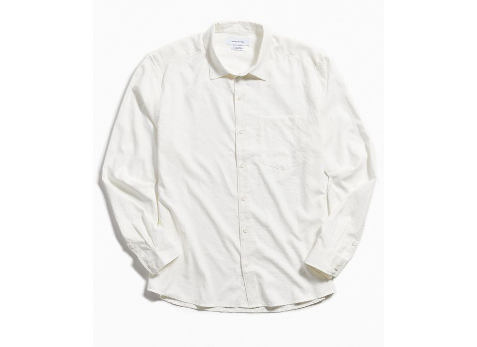 UO Faux Silk Button Front Shirt