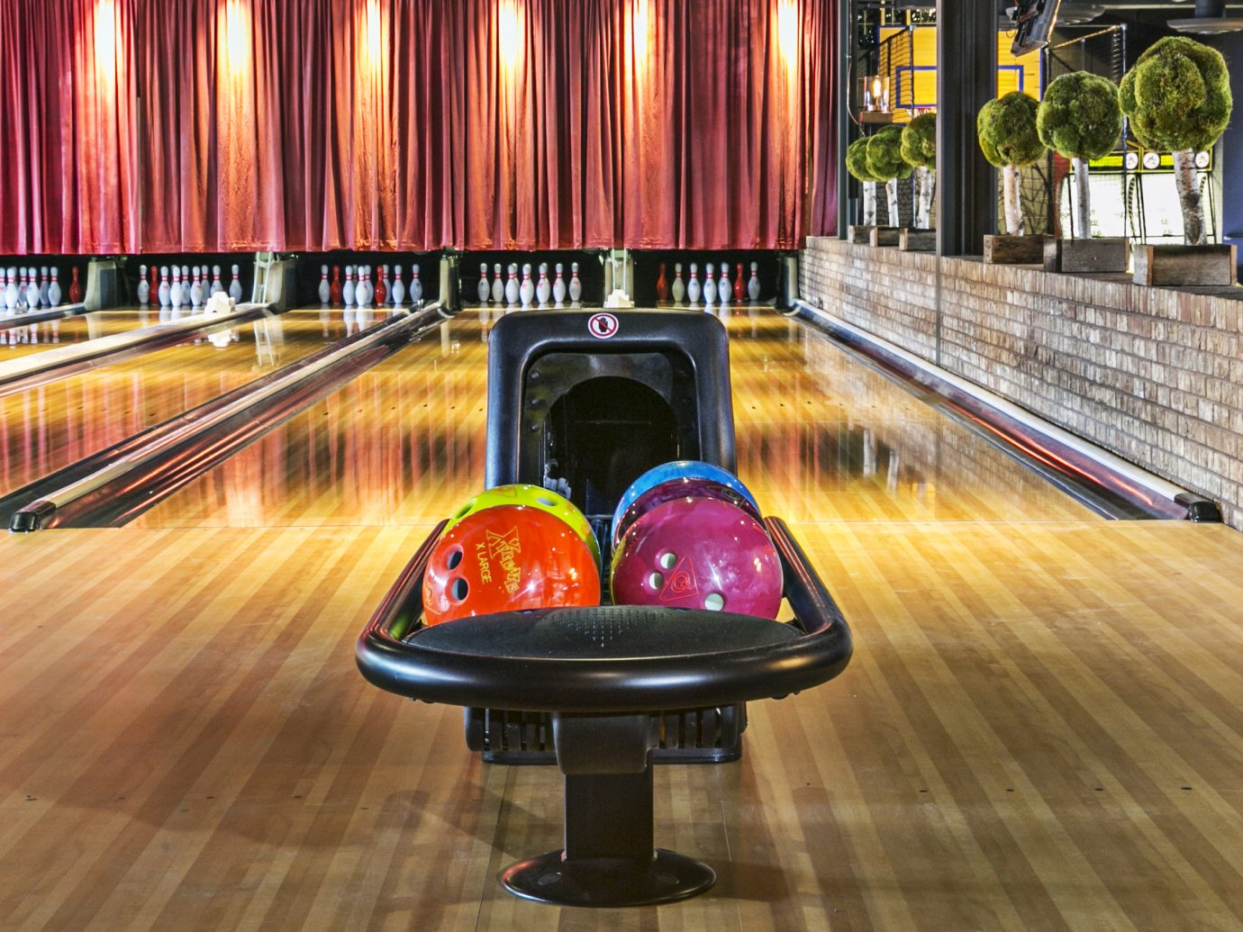bowling alley at The Painted Pin